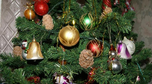 christmas tree, toys, holiday Wallpaper