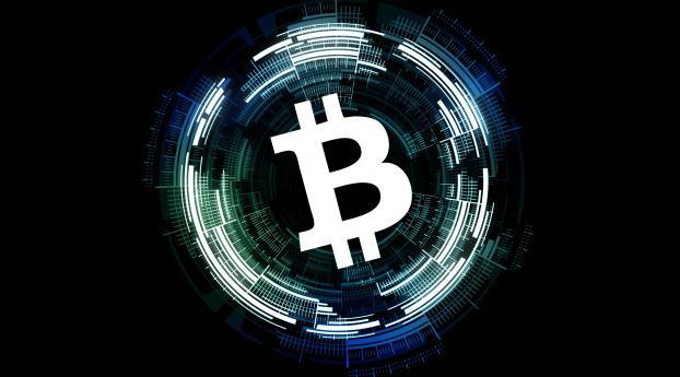 Circle Bitcoin HD Blockchain 4K Wallpaper