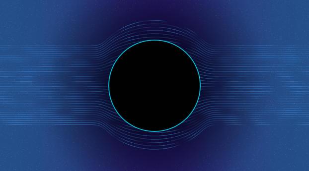 HD Wallpaper | Background Image Circle Blue Hole