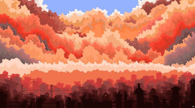 HD Wallpaper   Background Image City Art 5K