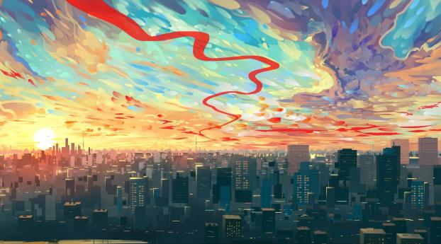 HD Wallpaper | Background Image Cityscape Drawing Art