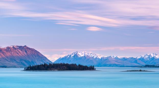 HD Wallpaper | Background Image Cloudy Mountains in Lake Tekapo New Zealand