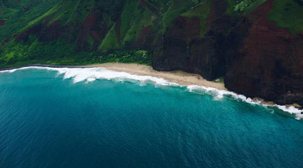 Coastline 4k Hawaii Wallpaper