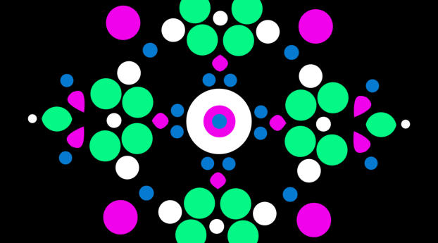 Colorful Circle Multiply Wallpaper