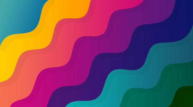 Colorful Digital Wave 10K Wallpaper
