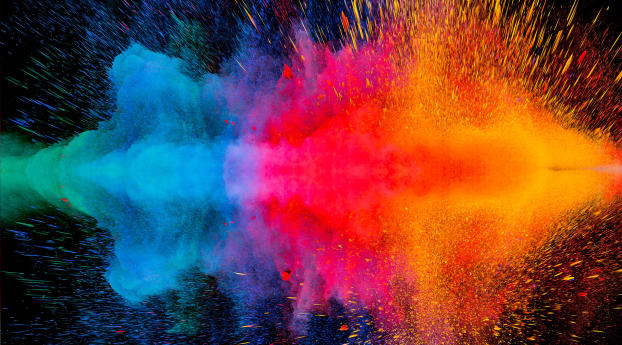 HD Wallpaper | Background Image Colorful Dispersion 4K