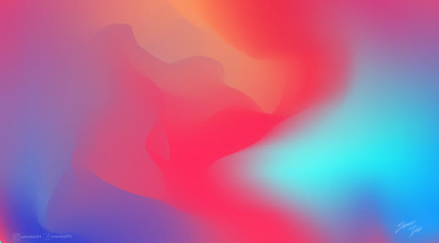 HD Wallpaper | Background Image Colorful Gradient Waves 8K