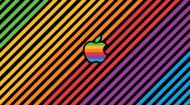 Cool Apple Logo Gradient Line Wallpaper in 540x960 Resolution