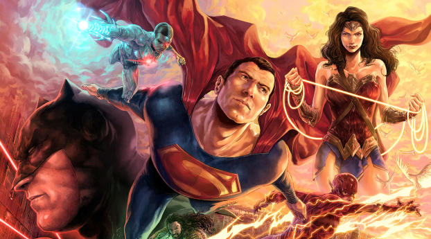 HD Wallpaper | Background Image Cool Justice League Illustration