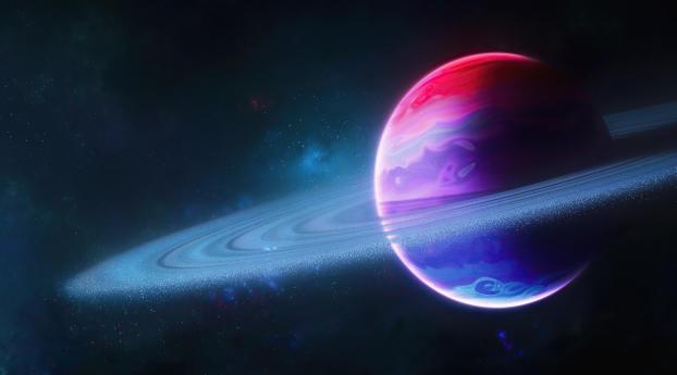 Cool Planetary Ring Wallpaper