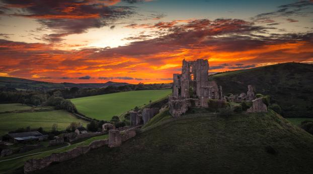 Corfe Castle England Wallpaper