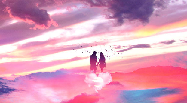 HD Wallpaper | Background Image Couples In Heaven Art