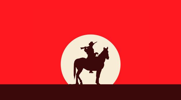HD Wallpaper | Background Image Cowboy Minimalist