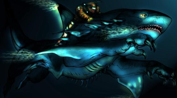 creature, shark, water Wallpaper