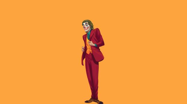 Creepy Joker 2020 Minimal Wallpaper