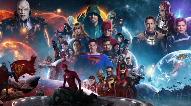 Crisis On Infinite Earths 4k Wallpaper 2560x1600 Resolution