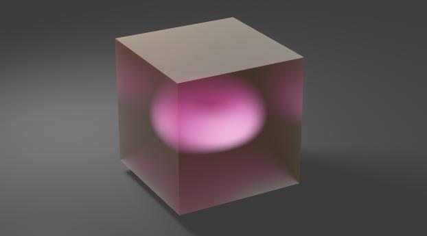 cube, glass, ball Wallpaper
