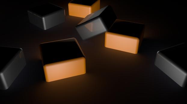 cubes, dark, shadow Wallpaper