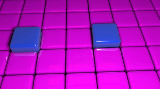 cubes, surface, sleek Wallpaper