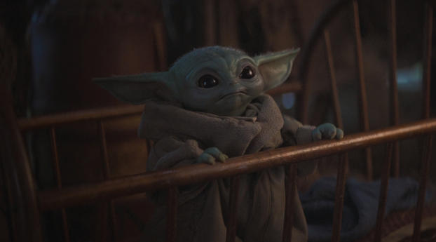 HD Wallpaper | Background Image Cute Baby Yoda from Mandalorian