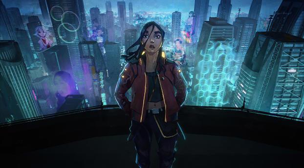 Cyberpunk 2077 Girl Digital Art Wallpaper