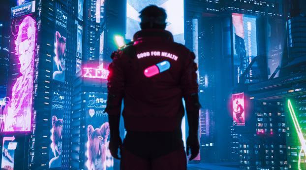 Cyberpunk 2077 Healthy Pill Wallpaper 2560x1024 Resolution
