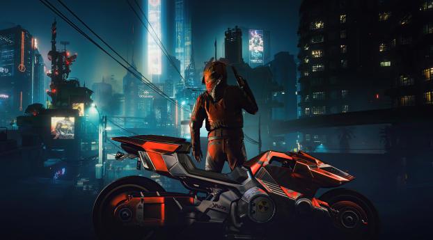 Cyberpunk 2077 Motorcycle Boogeyman Wallpaper