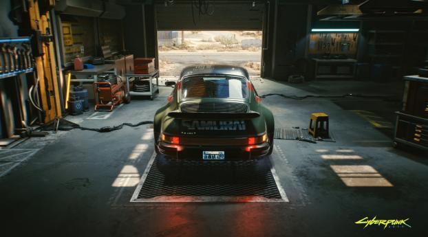 Cyberpunk 2077 Porsche 911 Turbo Wallpaper