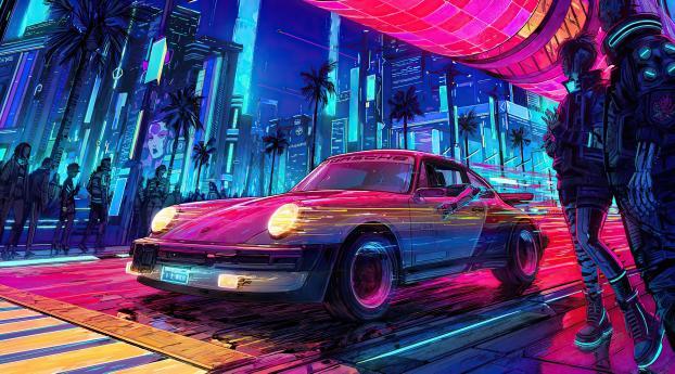 Cyberpunk 2077 Porsche Cool Wallpaper