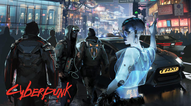 Cyberpunk 2077 RED Night Wallpaper