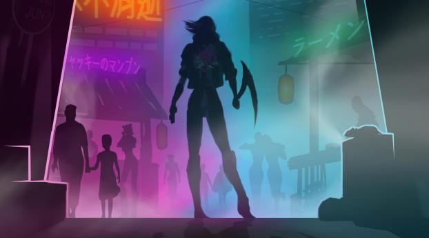 Cyberpunk 2077 Retro Art Wallpaper