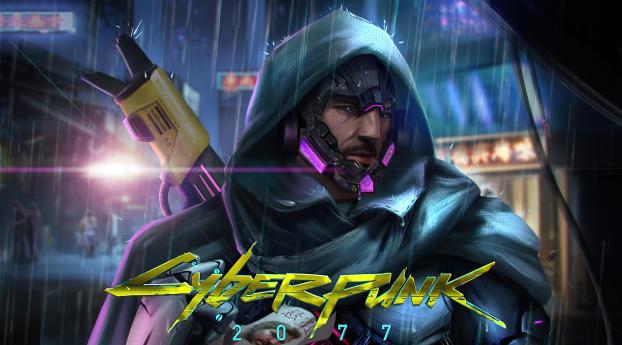 Cyberpunk 2077 Sniper Cyborg Wallpaper
