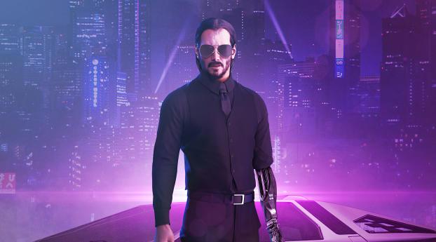 HD Wallpaper | Background Image Cyberpunk 2077 x Keanu Reeves Fan Illustration