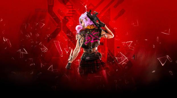 Cyberpunk Girl with Weapon Wallpaper