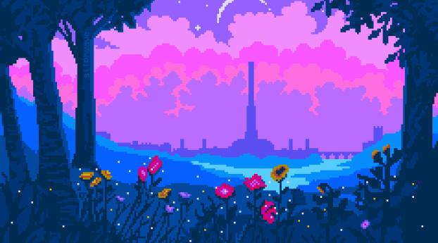 1242x2688 Cyrodiil Pixel Art Iphone Xs Max Wallpaper Hd Artist 4k