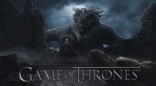 HD Wallpaper | Background Image Daenerys and Dragon GOT