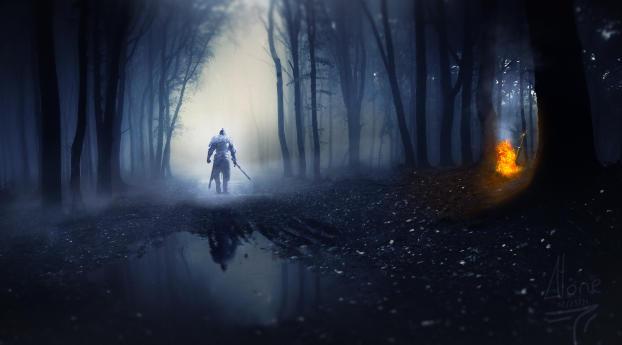 Dark Souls Warrior with Sword Wallpaper