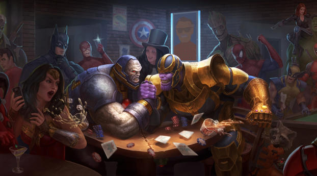 HD Wallpaper | Background Image Darkseid Vs Thanos Art