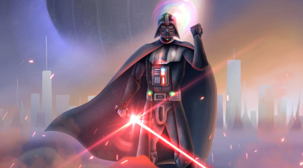 Darth Vader Lightsaber Star Wars Wallpaper