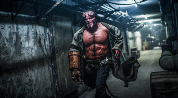 HD Wallpaper | Background Image David Harbour in Hellboy Movie 2019