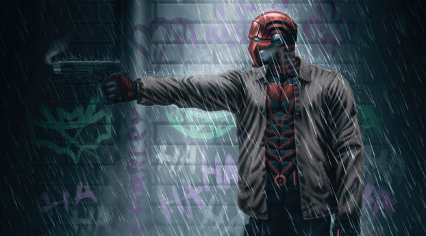 DC Red Hood Digital Comic Art Wallpaper 320x240 Resolution