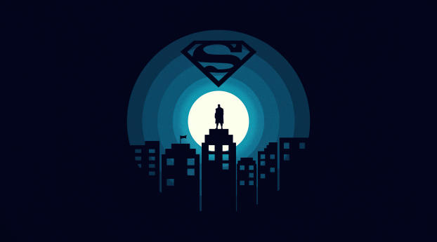 DC Superman Minimal Wallpaper