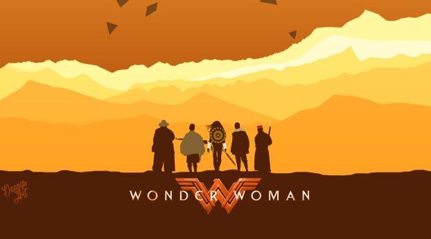 DC Wonder Woman Superhero Wallpaper