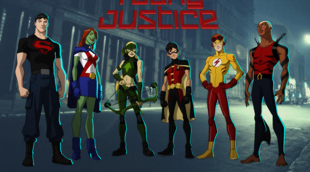 DC Young Justice Members Wallpaper