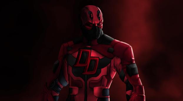 HD Wallpaper   Background Image Deadpool Daredevil Marvel Comics 4K