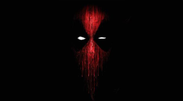 Deadpool Mask Minimalist Wallpaper