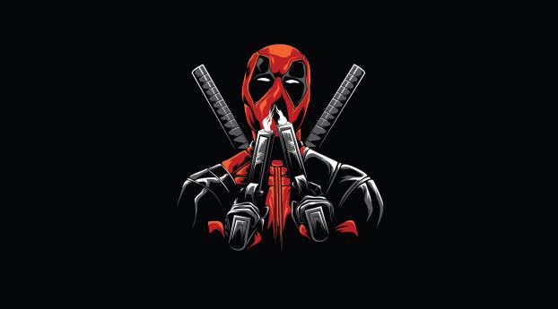 HD Wallpaper | Background Image Deadpool Minimal