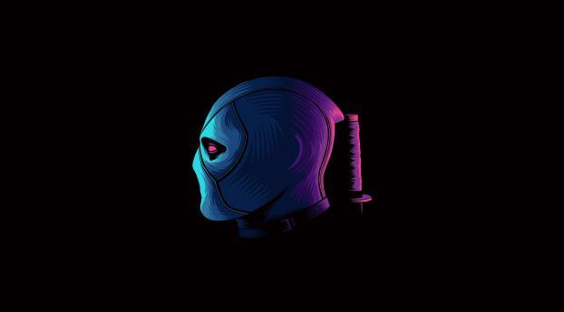 HD Wallpaper | Background Image Deadpool Neon Minimal
