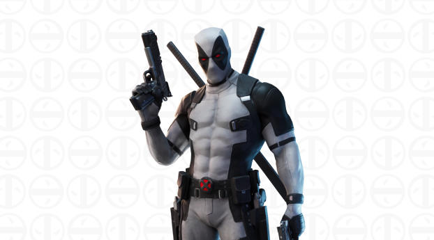 Deadpool White Suit X-Force Fortnite Wallpaper 2560x1440 Resolution