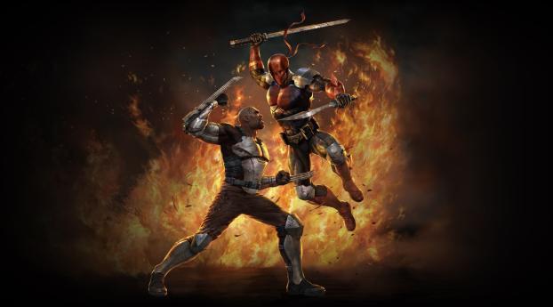 Deathstroke vs Bronze Tiger Wallpaper
